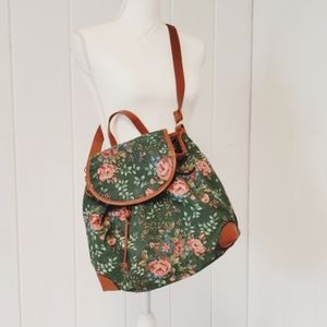 Tapestry, faux leather, bag, backpack, laptop